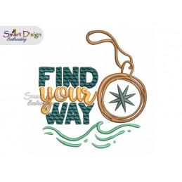FIND YOUR WAY Kompass 13x18 cm