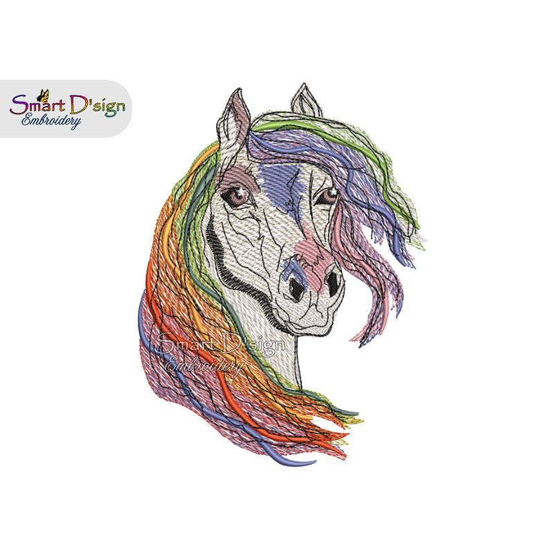 RAINBOW HORSE gradient colour fill