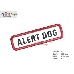 ALERT DOG - PATCH with professional merrow edge