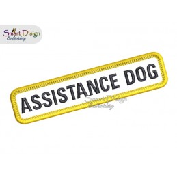 ASSISTANCE DOG - PATCH with professional merrow edge