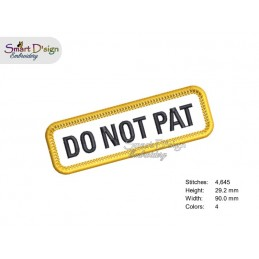 DO NOT PAT - PATCH with professional merrow edge