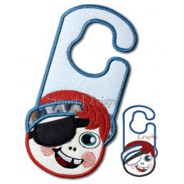 Tooth Fairy Pirate ITH Door Hanger 5x7 inch