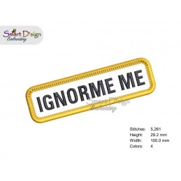 IGNORE ME - PATCH with professional merrow edge