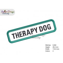 THERAPY DOG - DOG PATCH with professional merrow edge