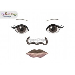 INDIGINOUS BABY DOLL FACE Nr. 1 - includes 3 sizes
