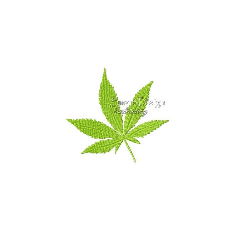 Cannabis Leaf 4x4 inch