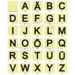 "ABC Alphabet 26 Letter Blocks Vol. 1 - 4x4"""