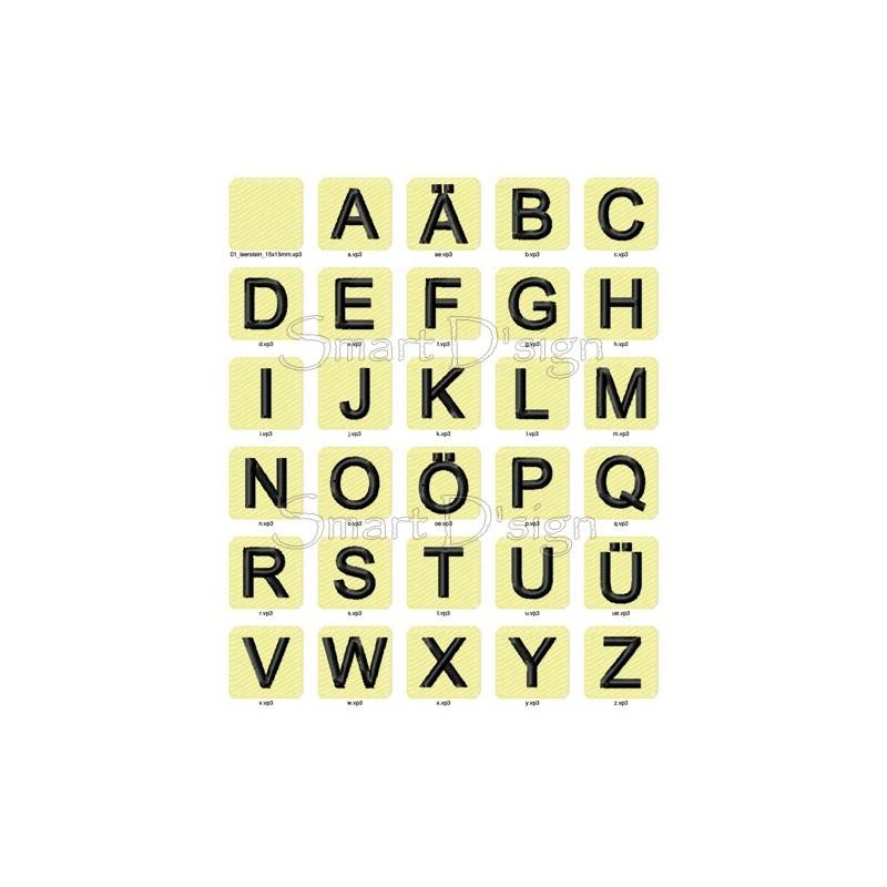 ABC Alphabet 26 Buchstaben Blöcke Vol. 1 - 10x10 cm