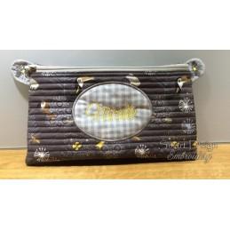 ITH Kosmetiktasche 2x BLANK PATCH 18x30 cm