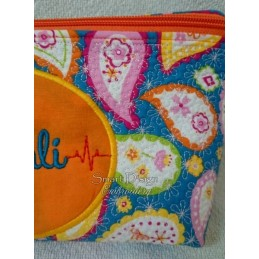 ITH Cosmetic Bag 2x BLANK PATCH 7x12 inch
