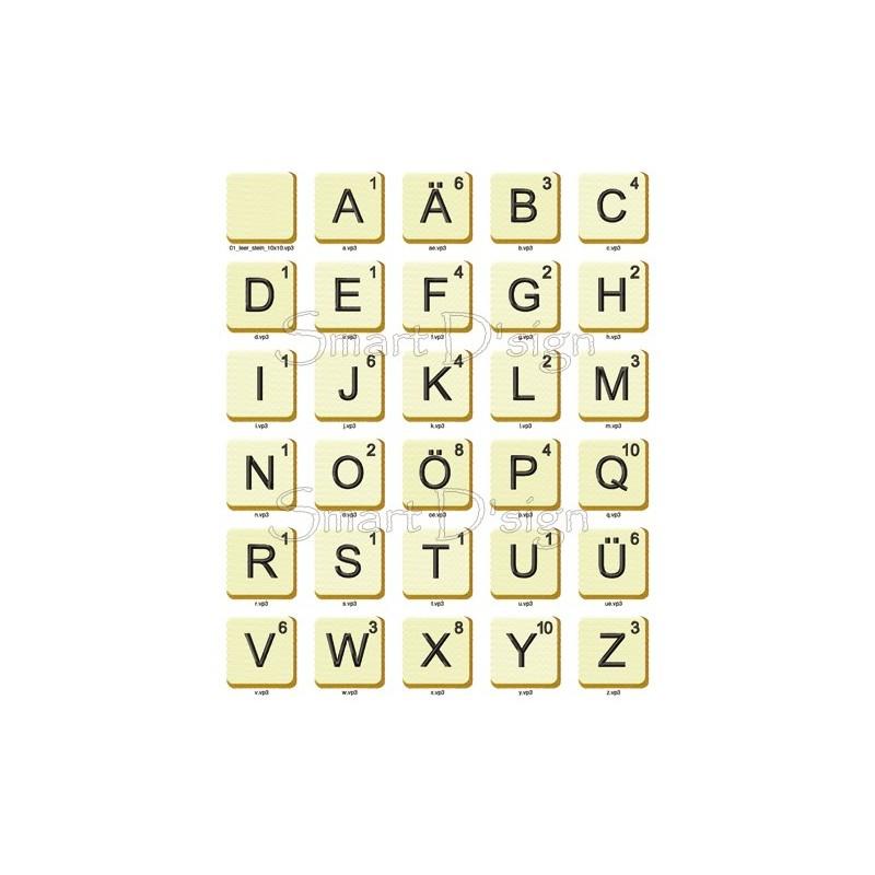 ABC Alphabet 26 Buchstaben Blöcke Vol. 2 - 10x10 cm