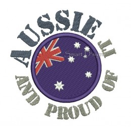 Aussie And Proud Of It 13x18 cm