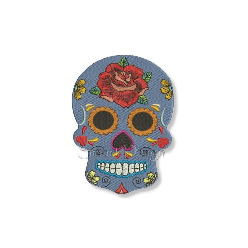Flower Power Sugar Skull 13x18 cm
