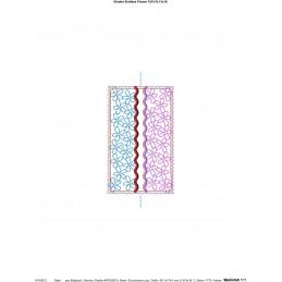 ITH Einfache Taschentuch-Tasche Blütenquilt 13x18 cm