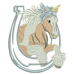 Springendes Einhorn Tinker Gypsy Horse 13x18 cm
