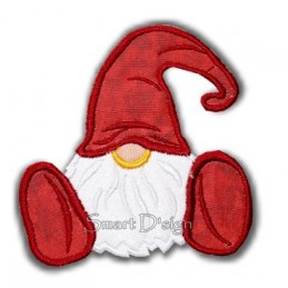 Applique Gnome Dwarf 4.75x4.75 inch