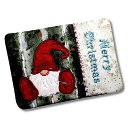 2 x ITH Frohe Weihnachten MugRug Gnome 5x7 inch