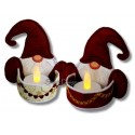 Gnome Tea Lights Set 5x6 inch