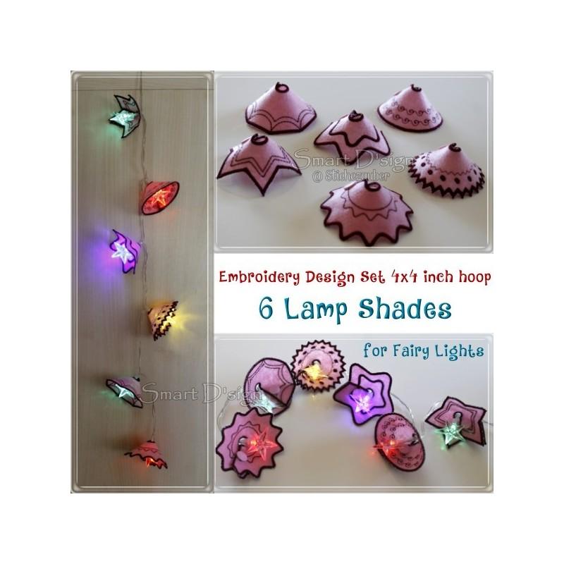 ITH 6 Lamp Shades 4x4 inch