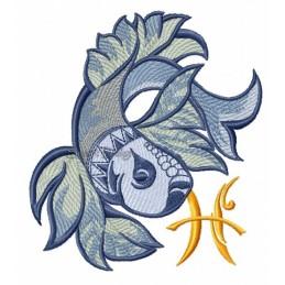 Zodiac Pisces 5x7 inch