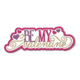 Be My Valentine Applikation 13x18 cm