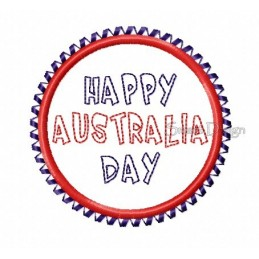 Happy Australia Day Badge 4x4 inch