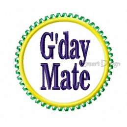 G'day Mate Badge Ribbon 4x4 inch