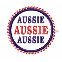 Aussie Aussie Aussie Badge 4x4 inch