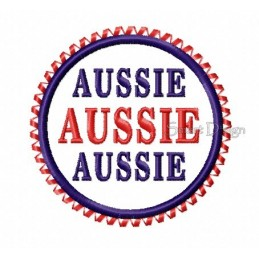 Aussie Aussie Aussie Plakette 10x10 cm
