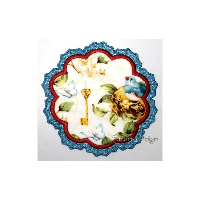 ITH Flower Laced Coaster 3 sizes