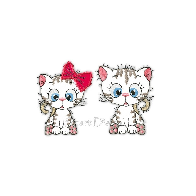 2x Kitty Sweethearts 12x12 cm