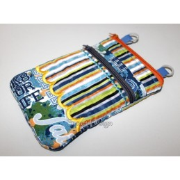 ITH 2x Mobile Bags with Zipper Wave Applique 5.5x7.9 inch