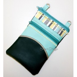 ITH 2x Mobile Bags with Half Circle Applique 5.5x7.9 inch
