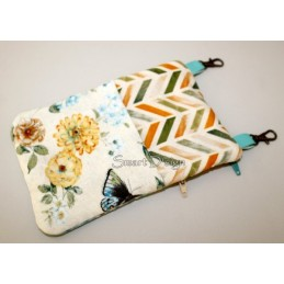ITH 2x Mobile Bags with Triangle Applique 5.5x7.9 inch