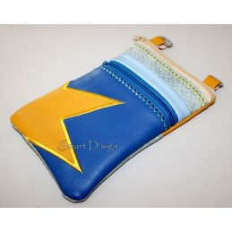 ITH 2x Mobile Bags with Star Applique 5.5x7.9 inch