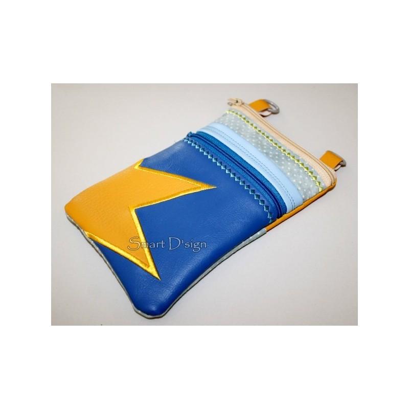 ITH 2x Handy Taschen Stern-Applikation 14x20 cm