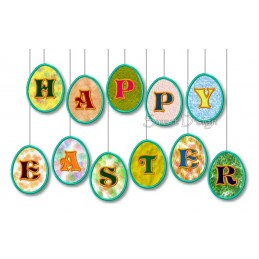 Easter Egg Alphabet 4x4 inch