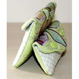 ITH 2x Easy Quilt Applique Flower Bags 5x7 inch
