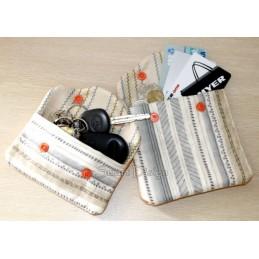 ITH 2x Einfache Quilt Taschen Blumen-Application 14x20 cm