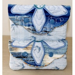 ITH 2x Easy Quilt Applique Flower Bags 6x10 inch