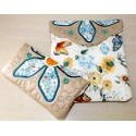 ITH 2x Easy Quilt Applique Flower Bags 7x11.7 inch