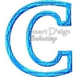 """Alphabet DANNY - Letter C Applique 4x4"""""""