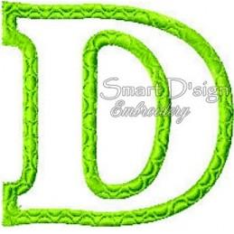 Alphabet DANNY - Buchstabe D Applikation 10x10 cm
