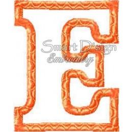 Alphabet DANNY - Buchstabe E Applikation 10x10 cm