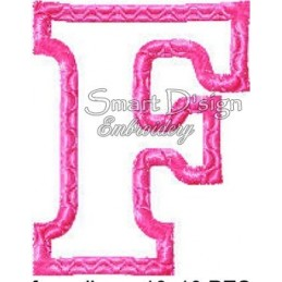 Alphabet DANNY - Buchstabe F Applikation 10x10 cm