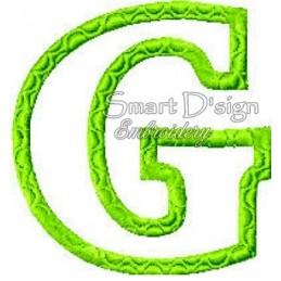Alphabet DANNY - Buchstabe G Applikation 10x10 cm
