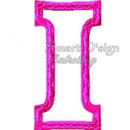"Alphabet DANNY - Letter I Applique 4x4"""