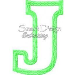 """Alphabet DANNY - Letter J Applique 4x4"""""""
