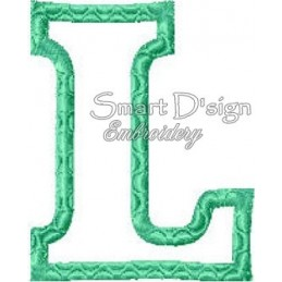 Alphabet DANNY - Buchstabe L Applikation 10x10 cm