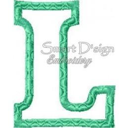 """Alphabet DANNY - Letter L Applique 4x4"""""""